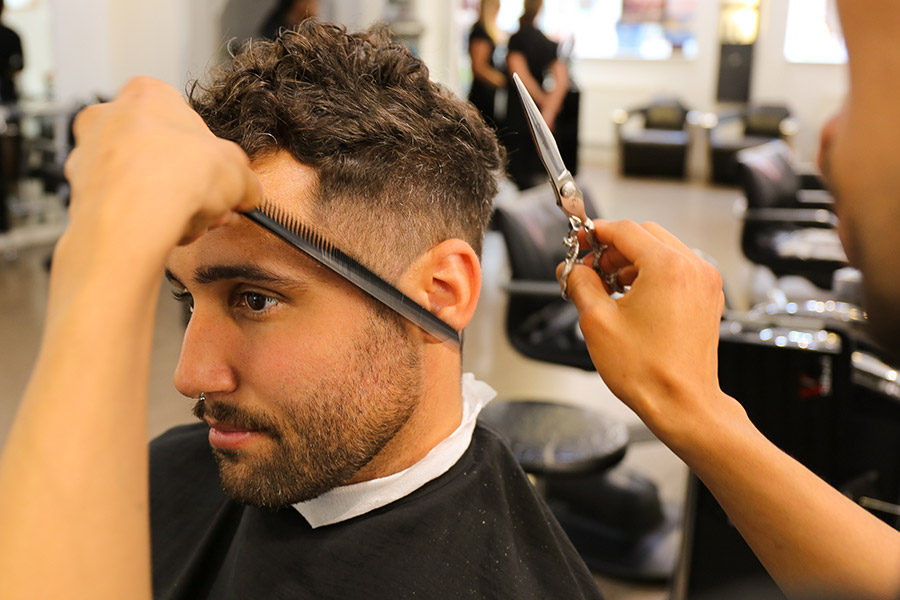 Men's hair design
